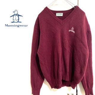 Munsingwear - マンシングウェア 刺繍ロゴ ウールニット カシミヤニット ヴィンテージニット