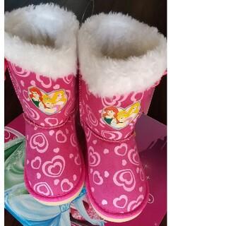 Disney - ディズニー プリンセス ブーツ 新品未使用 18センチ ピンク ボアブーツ