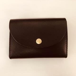 トチギレザー(栃木レザー)の新品 未使用 日本製 栃木レザー ミニウォレット ヌメ革 赤 レッド(財布)