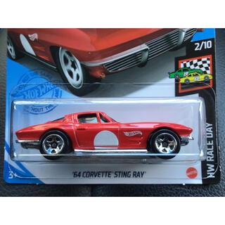シボレー(Chevrolet)のホットウィール '64 コルベット スティングレイ C2 レッド 赤(ミニカー)