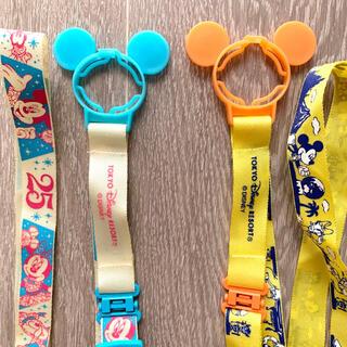 ディズニー(Disney)の【2個セット】ディズニーランドで購入 ペットボトルストラップ(キャラクターグッズ)