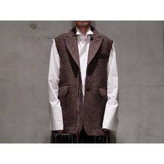 マルタンマルジェラ(Maison Martin Margiela)のmidorikawa「silk wool belted vest」(ベスト)