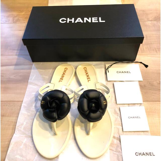 CHANEL(シャネル)のお値下げ中!シャネル カメリア サンダル レディースの靴/シューズ(サンダル)の商品写真