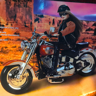 バービー(Barbie)の参考画像♡ハーレーダビッドソン♡バービーのバイク(ぬいぐるみ)