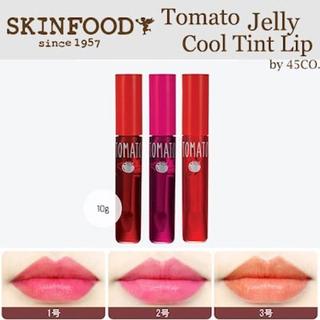 スキンフード(SKIN FOOD)の新品未開封 スキンフード SKINFOOD トマトクールゼリーティント セット(リップグロス)