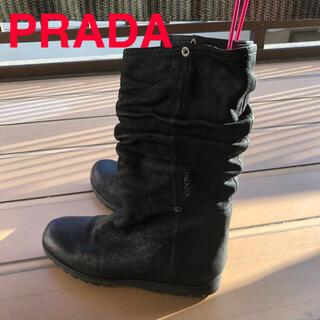 プラダ(PRADA)のPRADA   プラダブーツ   ブラック美品  (ブーツ)
