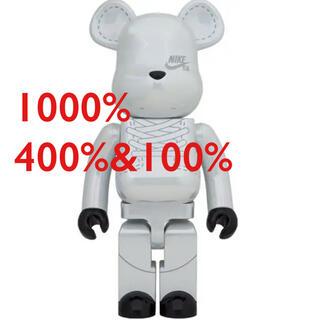 メディコムトイ(MEDICOM TOY)のBE@RBRICK NIKE SB 2020 WHITE 1000と400セット(その他)