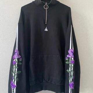 ヴァンキッシュ(VANQUISH)のLEGENDA 紫薔薇 名古屋限定 スウェット トレーナー 刺繍 古着 FR2(スウェット)