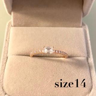 【新品未使用】14号リング 色ゴールド 華奢な指輪(リング(指輪))