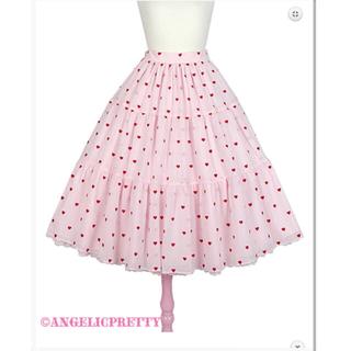 アンジェリックプリティー(Angelic Pretty)のプチハート スカート angelic pretty petit heart(ひざ丈スカート)
