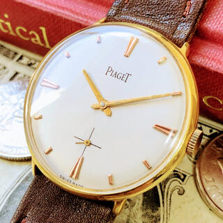 PIAGET - #1075【人気ブランドの高級感】メンズ腕時計 ピアジェ 動作良好 ヴィンテージ