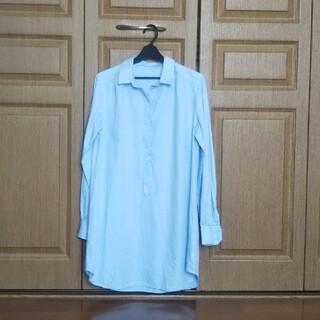 グローバルワーク(GLOBAL WORK)のシャツチュニック 水色 サンプル品(チュニック)