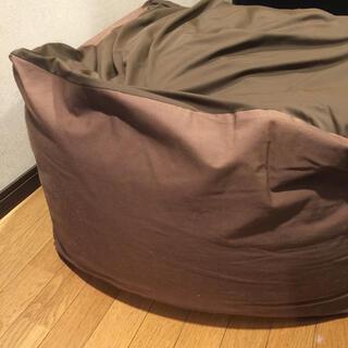ムジルシリョウヒン(MUJI (無印良品))の無印良品のビーズクッション大です。 人をだめにするクッション 茶色(ビーズソファ/クッションソファ)