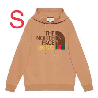 グッチ(Gucci)のS GUCCI × THE NORTH FACE TAN HOODIE グッチ(パーカー)