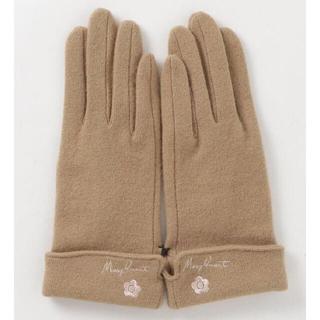 マリークワント(MARY QUANT)の新品 マリークワント ウール手袋 ベージュ(手袋)
