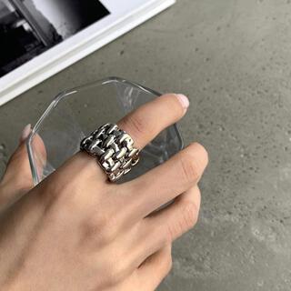 アメリヴィンテージ(Ameri VINTAGE)のTweed wide silver ring No.470(リング(指輪))