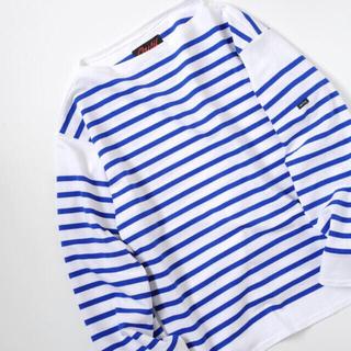ワンエルディーケーセレクト(1LDK SELECT)のOUTIL  TRICOT AAST (white×blue)  サイズ1(Tシャツ/カットソー(七分/長袖))
