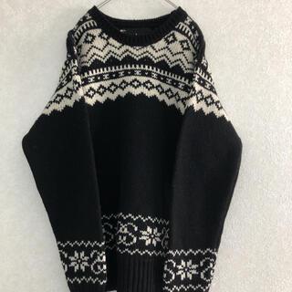 ステューシー(STUSSY)のstussy  ステューシー M ノルディック柄 wool セーター ニット(ニット/セーター)