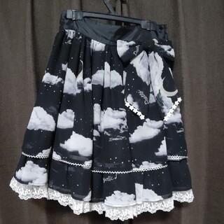 アンジェリックプリティー(Angelic Pretty)のMisty Sky 黒スカートset(ひざ丈スカート)