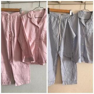 ユニクロ(UNIQLO)のUNIQLO パジャマ2セット(ピンク、ブルー)(パジャマ)