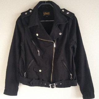 ◆32 レア 未使用 デッドストック Schott ライダースジャケット 黒