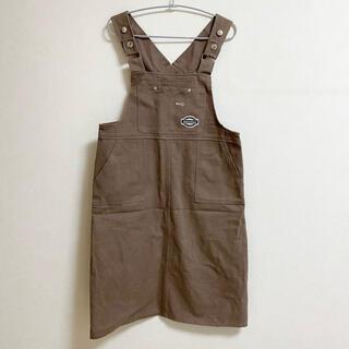pairpair サロペット ジャンパースカート オーバーオール ワンピース (ひざ丈スカート)