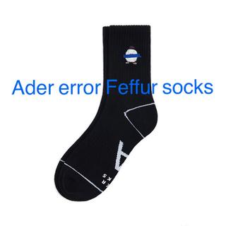 メゾンキツネ(MAISON KITSUNE')のAder error Feffur socks Black(ソックス)