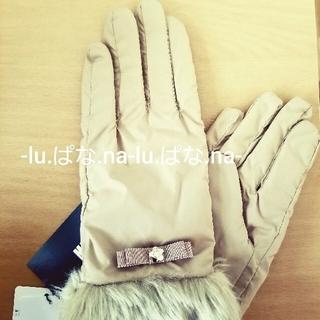 マリークワント(MARY QUANT)の新品未使用 MARY QUANT グログランリボンタフタ グローブ / 手袋 ③(手袋)