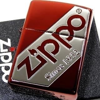 ジッポー(ZIPPO)の送料無料☆zippo☆zippo☆zippoロゴビッグ☆レッド☆ジッポ(タバコグッズ)