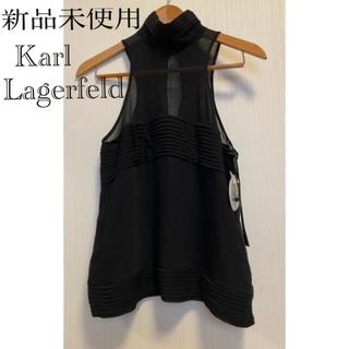 カールラガーフェルド(Karl Lagerfeld)の新品未使用❣️カールラガーフェルド❣️ノースリーブトップス(シャツ/ブラウス(半袖/袖なし))