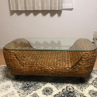 ラタン 籐 リビングテーブル(ローテーブル)