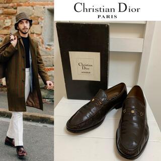 Christian Dior - Christian Dior PARIS VINTAGE ビットレザーローファー