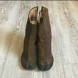 マルタンマルジェラ(Maison Martin Margiela)のマルジェラ 希少 スウェード 足袋ブーツ(ブーツ)