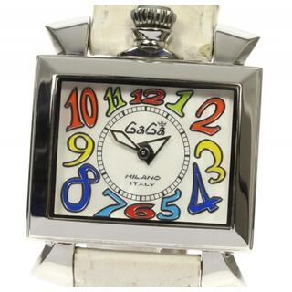 ガガミラノ(GaGa MILANO)のガガミラノ ナポレオーネ  6030.1 クォーツ レディース 【中古】(腕時計)