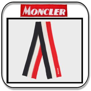 モンクレール(MONCLER)のモンクレール  超ロングマフラー ウール トリコロール  イタリア製(マフラー)