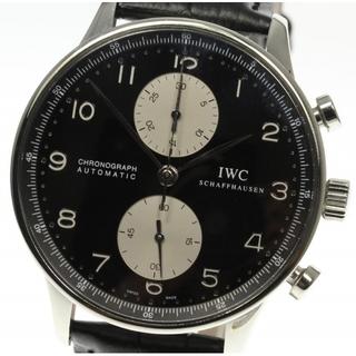IWC - ☆良品 IWC ポルトギーゼ クロノグラフ IW371404 メンズ 【中古】