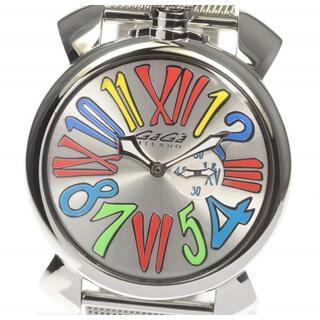 ガガミラノ(GaGa MILANO)の☆良品 ガガミラノ マヌアーレ スリム 46 5080.1 メンズ 【中古】(腕時計(アナログ))