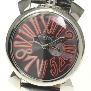 ガガミラノ(GaGa MILANO)のガガミラノ マヌアーレ スリム46  5084.2 クォーツ メンズ 【中古】(腕時計(アナログ))