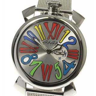 ガガミラノ(GaGa MILANO)のガガミラノ マヌアーレスリム46 5080.1 メンズ 【中古】(腕時計(アナログ))