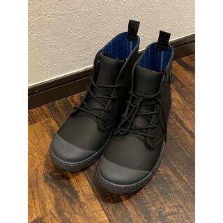 ワークマン 防水 サファリ ブーツ Mサイズ 黒(長靴/レインシューズ)