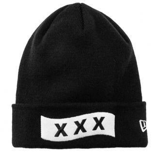 新品 GOD SELECTION XXX NEW ERA ニット帽 黒 ブラック(ニット帽/ビーニー)