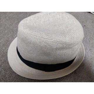 エイチアンドエム(H&M)のエイチアンドエム H&M ハット 麦わら帽子 白 ホワイト(ハット)
