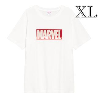 マーベル(MARVEL)のGU/ジーユー メンズ グラフィックT MARVEL オフホワイト 白 XL(Tシャツ/カットソー(半袖/袖なし))