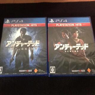 プレイステーション4(PlayStation4)のPS4アンチャーテッド新品2本セット(家庭用ゲームソフト)