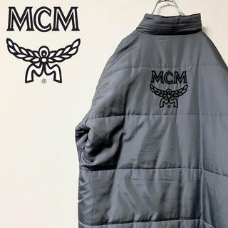 MCM - MCM ベンチコート ダウンコート ロゴ 刺繍 激レア ビッグサイズ 美品