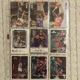 【サイン入り】NBAカード 9枚セット(シングルカード)