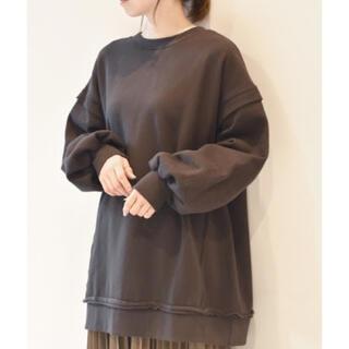 ダブルクローゼット(w closet)の袖レイヤード スウェット タグ付き(トレーナー/スウェット)