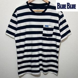 ハリウッドランチマーケット(HOLLYWOOD RANCH MARKET)の聖林公司 BLUEBLUE ボーダー Tシャツfruit of the loom(Tシャツ/カットソー(半袖/袖なし))