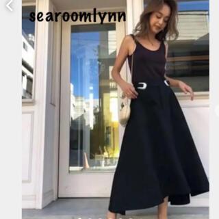 シールームリン(SeaRoomlynn)のsearoomlynn ウエストバックルアシメスカート ブラック(ロングスカート)