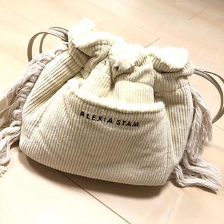 アリシアスタン(ALEXIA STAM)のReversible Drawstring Bag Ivory(ショルダーバッグ)